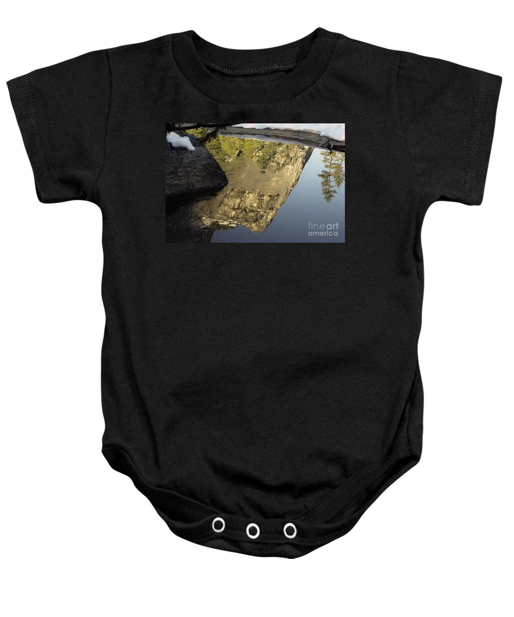 Mirror Lake Baby Onesie featuring the photograph Mirror Lake Reflection by Jim And Emily Bush
