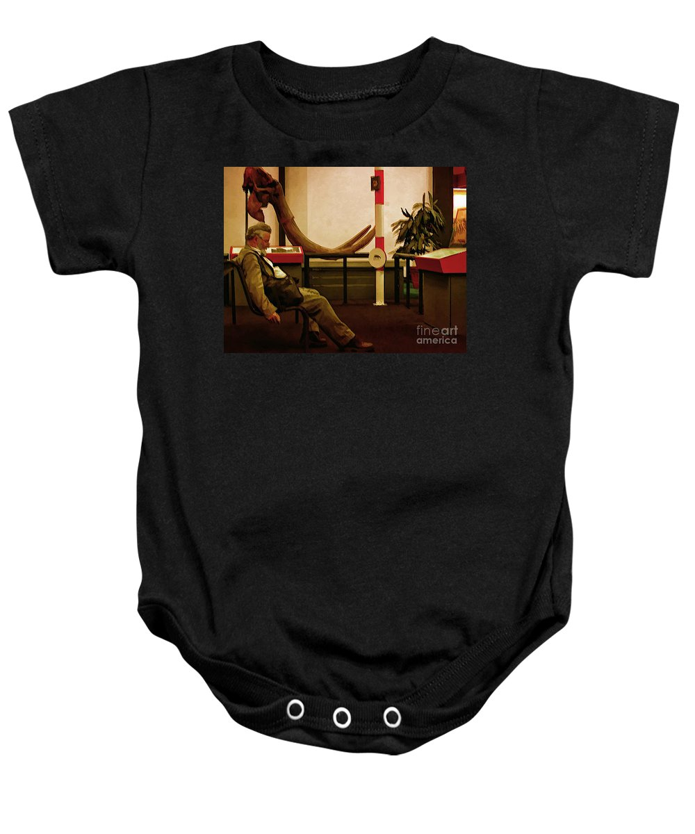 Man Baby Onesie featuring the photograph Mirroring by Kathleen K Parker