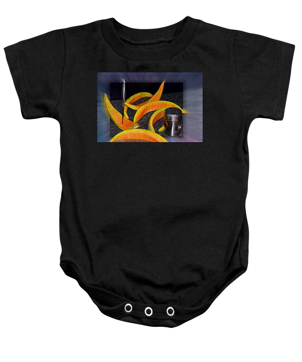 Still Life Baby Onesie featuring the photograph Mmmm That Was Good by Debbie Portwood
