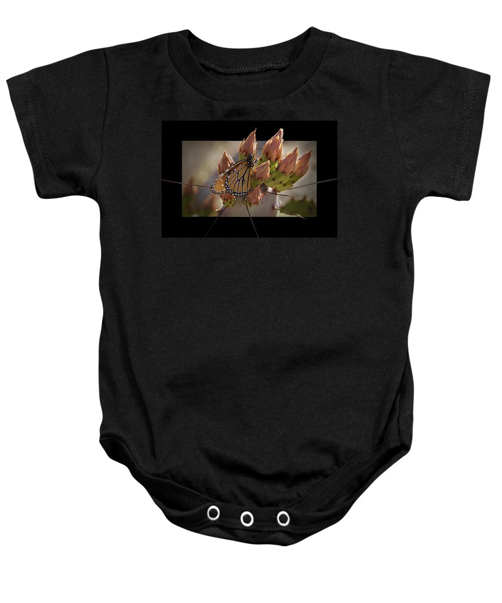 Butterfly Baby Onesie featuring the photograph Monarch Butterfly by Phyllis Denton