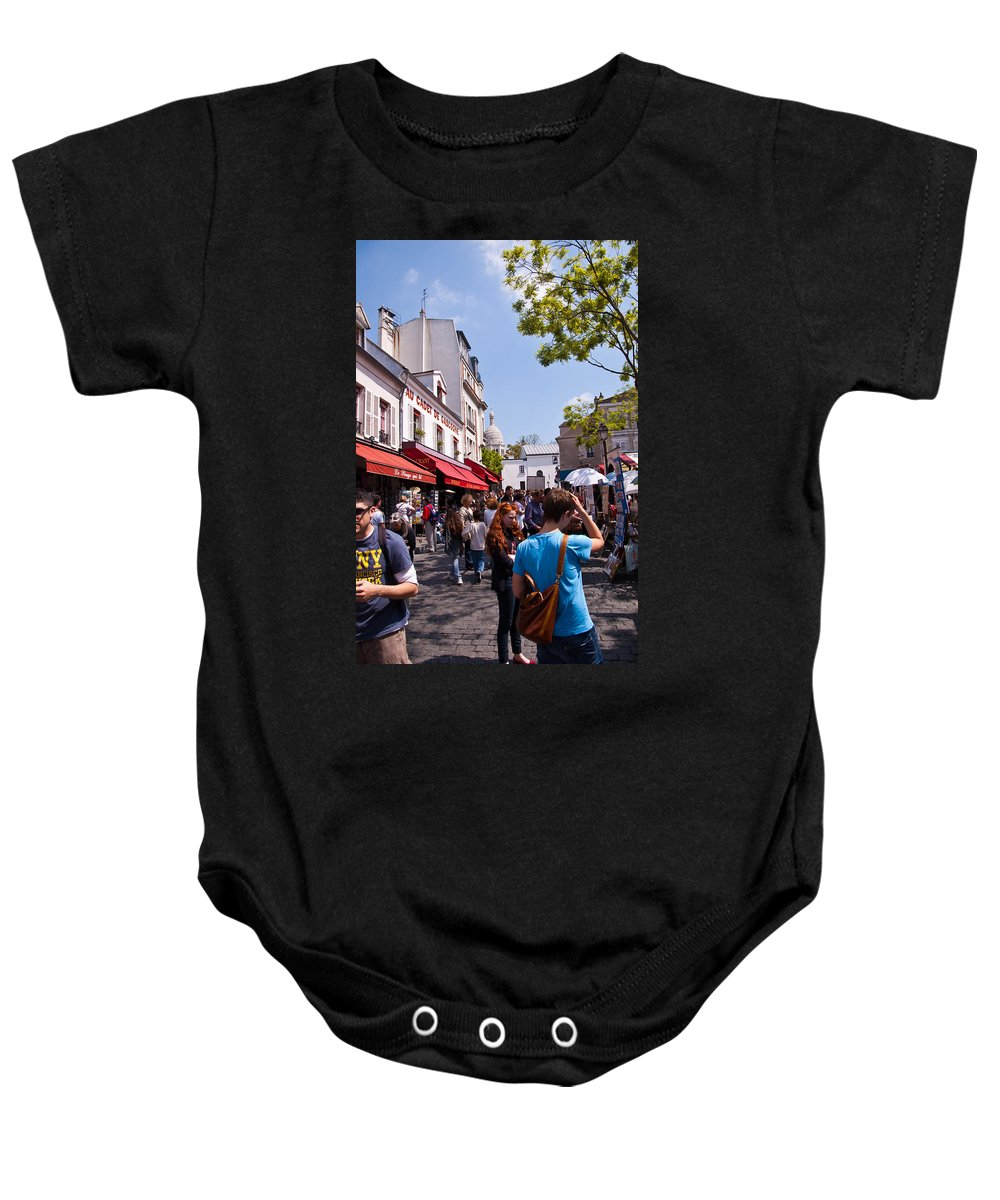 France Baby Onesie featuring the photograph Montmartre Artist Colony by Jon Berghoff