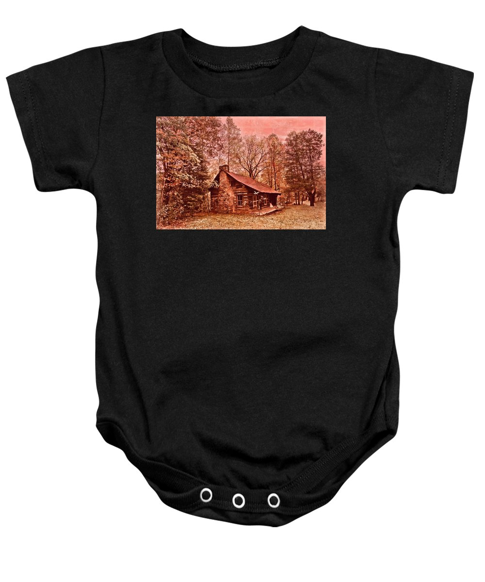 Appalachia Baby Onesie featuring the photograph Moonshine by Debra and Dave Vanderlaan
