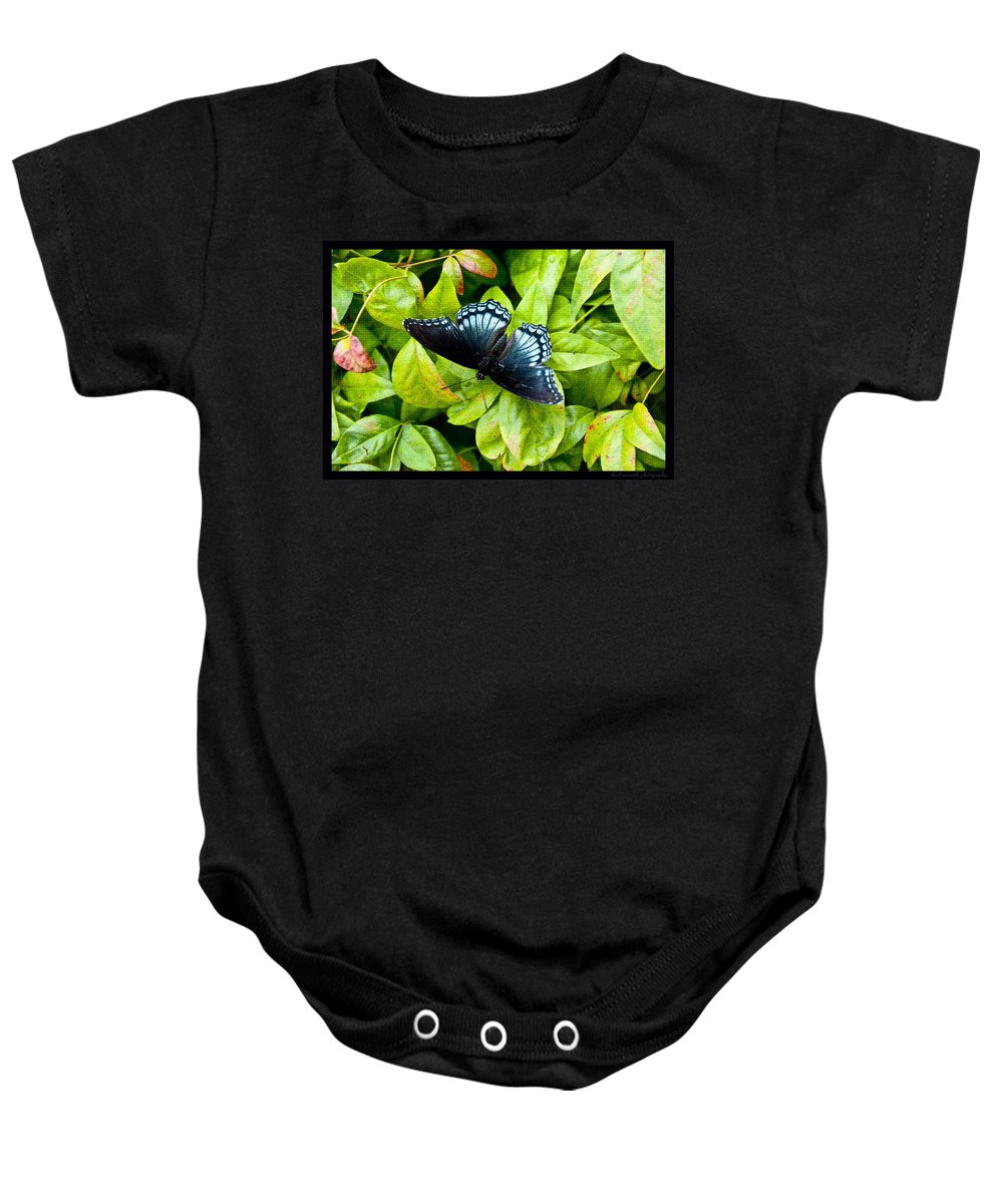 Butterfly Baby Onesie featuring the photograph Mosaic Flutterby by Sheri Bartoszek