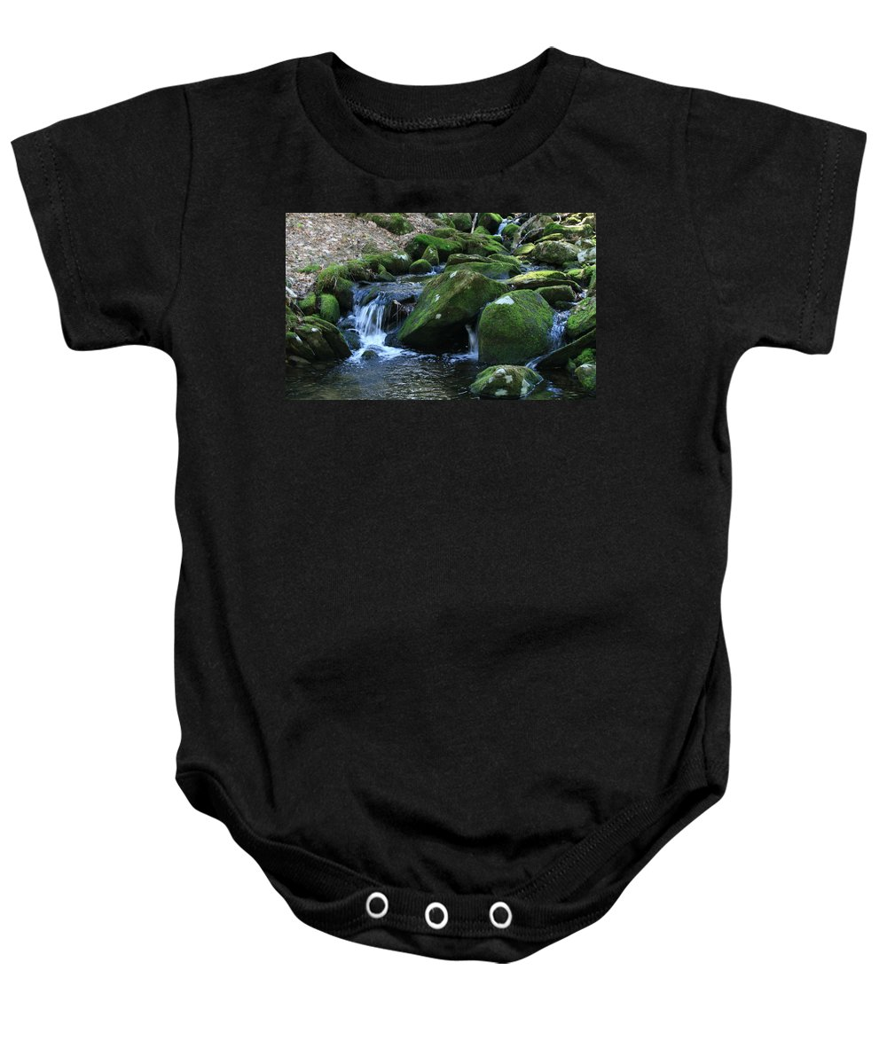 Flowing Moss Baby Onesie featuring the photograph Moss Overflow by Neal Eslinger