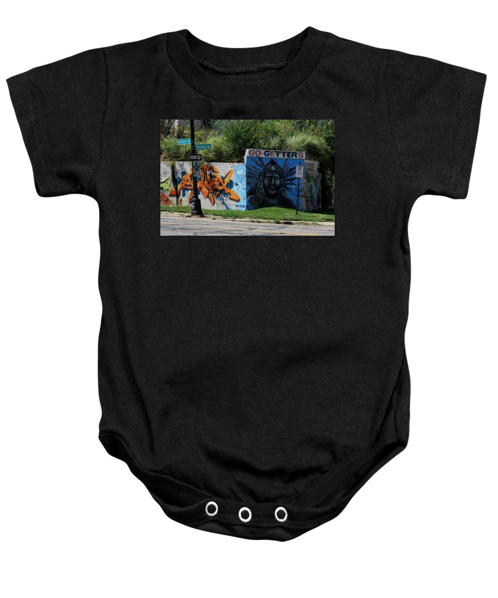 Landscape Baby Onesie featuring the photograph Motor City Art by Dennis Pintoski