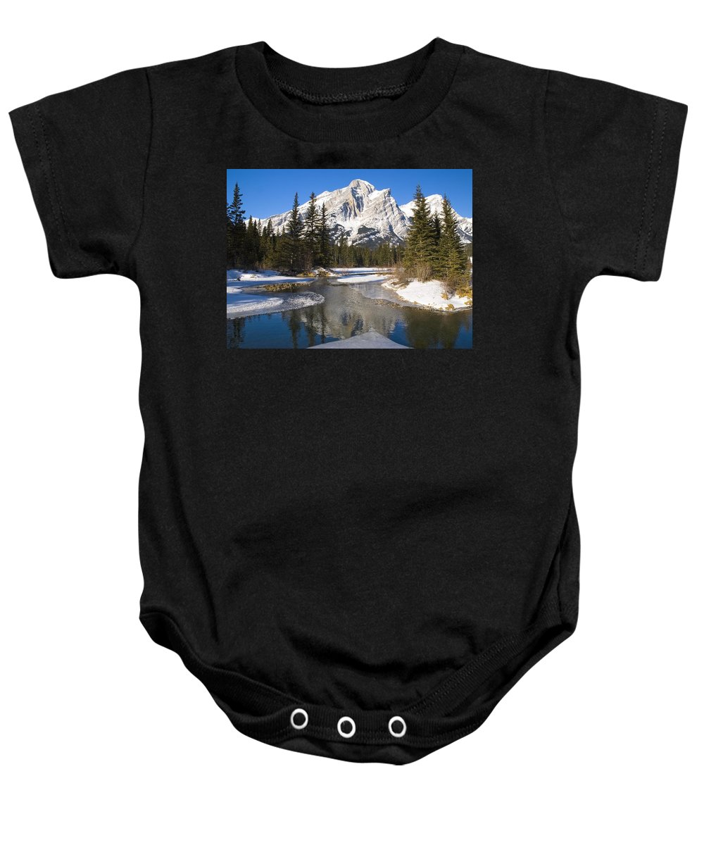 Banff National Park Baby Onesie featuring the photograph Mount Kidd, Banff National Park by Philippe Widling