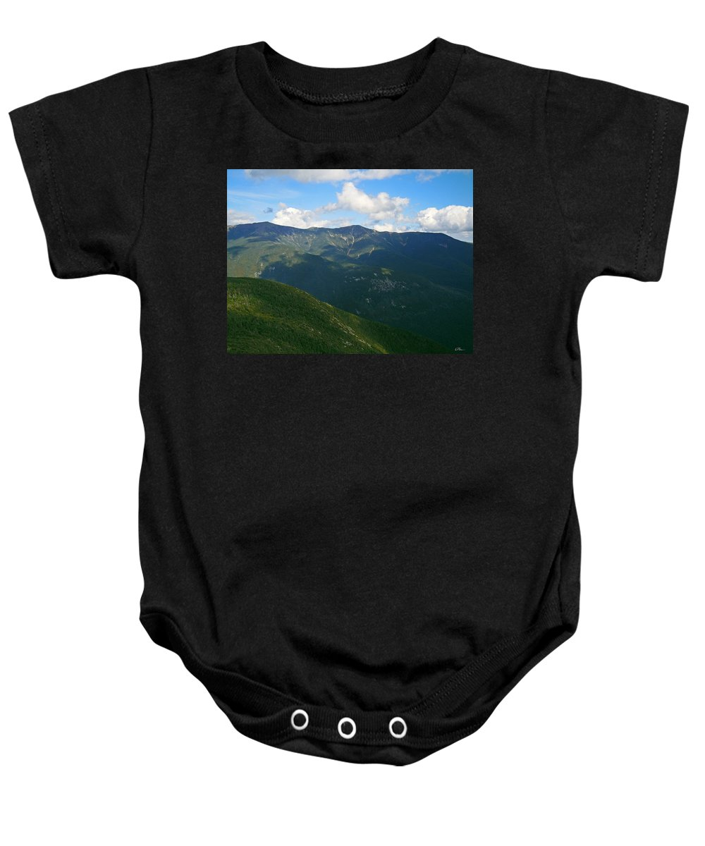 White Mountain National Forest Baby Onesie featuring the photograph Mount Lafayette From Top Of Cannon Mountain by Nancy Griswold