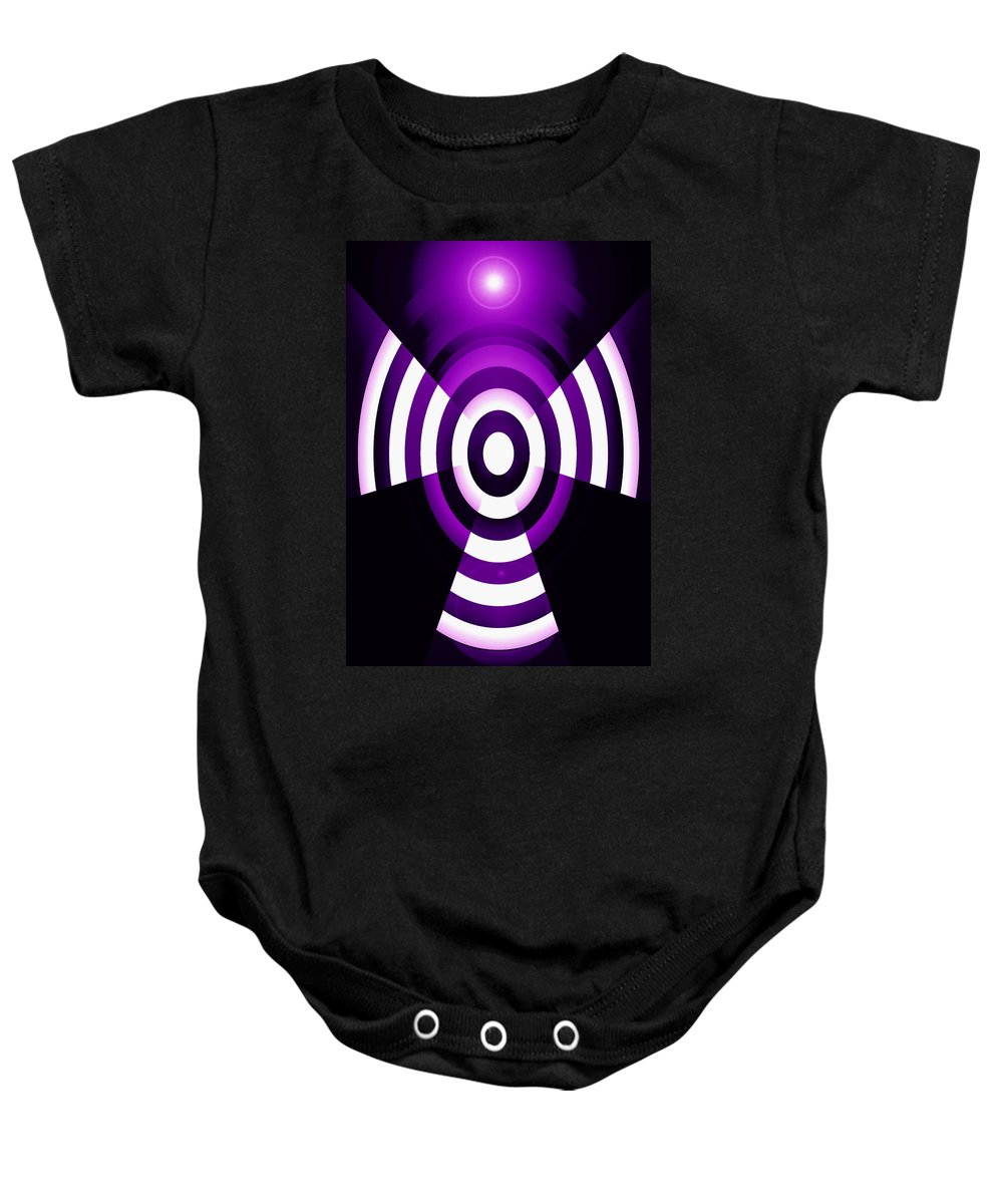 Moveonart! Global Gathering. Branch � �abstractguardianangelsinpink� � Digital Abstract Art By Artist Jacob Kane Kanduch � Omnetra Baby Onesie featuring the digital art Moveonart Abstractguardianangelinpink by Jacob Kanduch