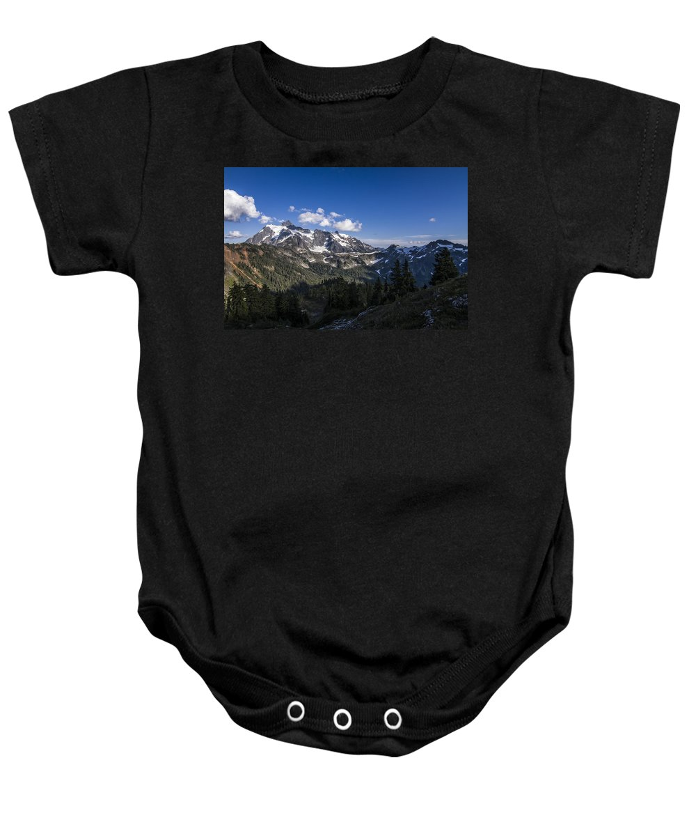 Cascades Baby Onesie featuring the photograph Mt Shuksan by Albert Seger