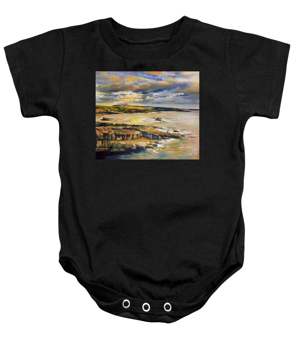 Mullaghmore Sligo Baby Onesie featuring the painting Mullaghmore County Sligo by Conor McGuire