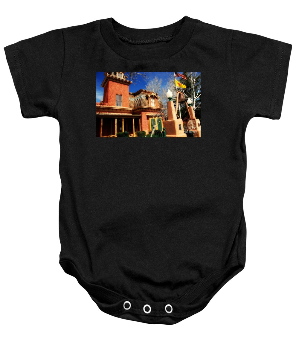 Museum Baby Onesie featuring the photograph Museum In Silver City Nm by Susanne Van Hulst