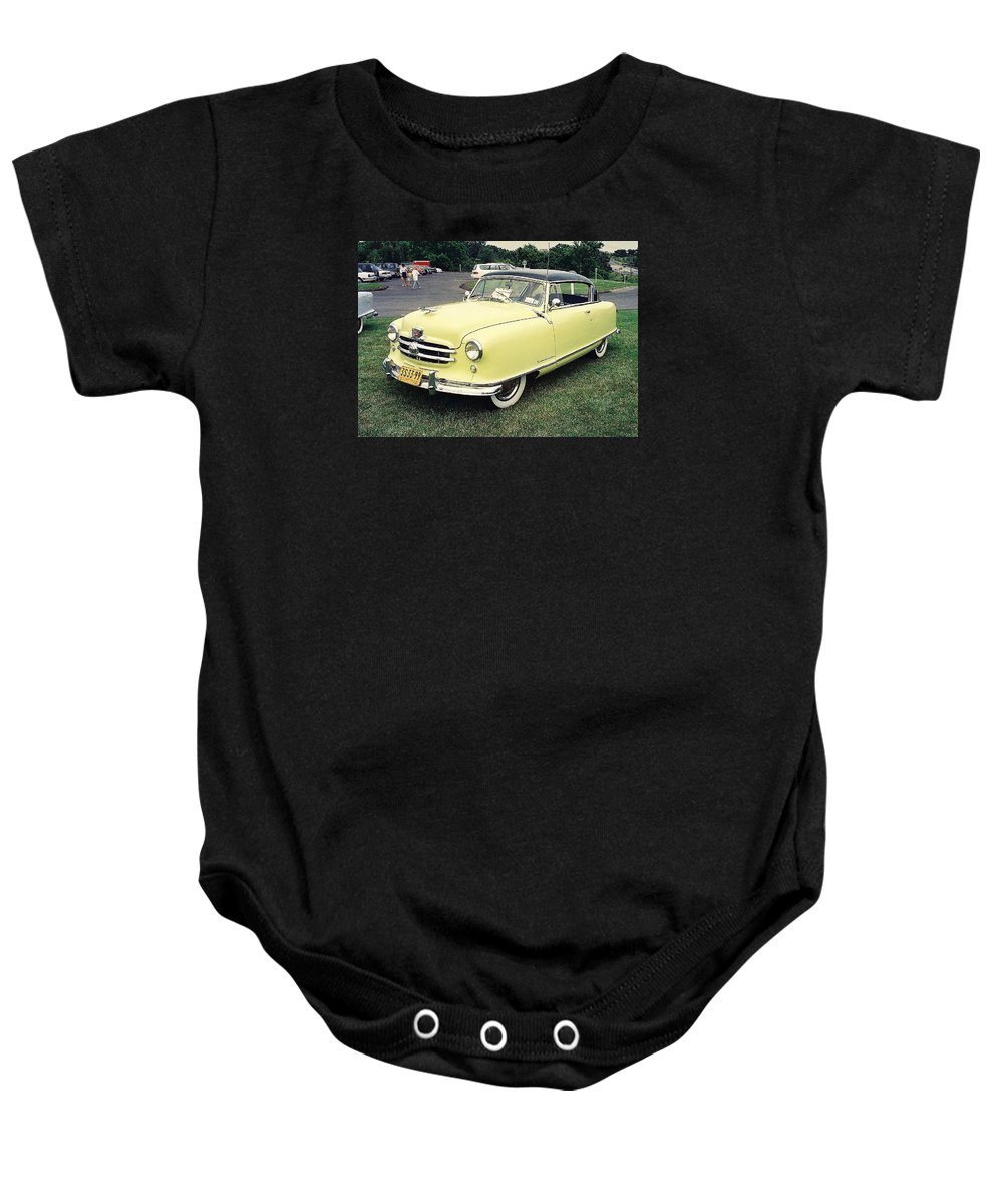 Automobiles Baby Onesie featuring the photograph Nash Rambler by John Schneider