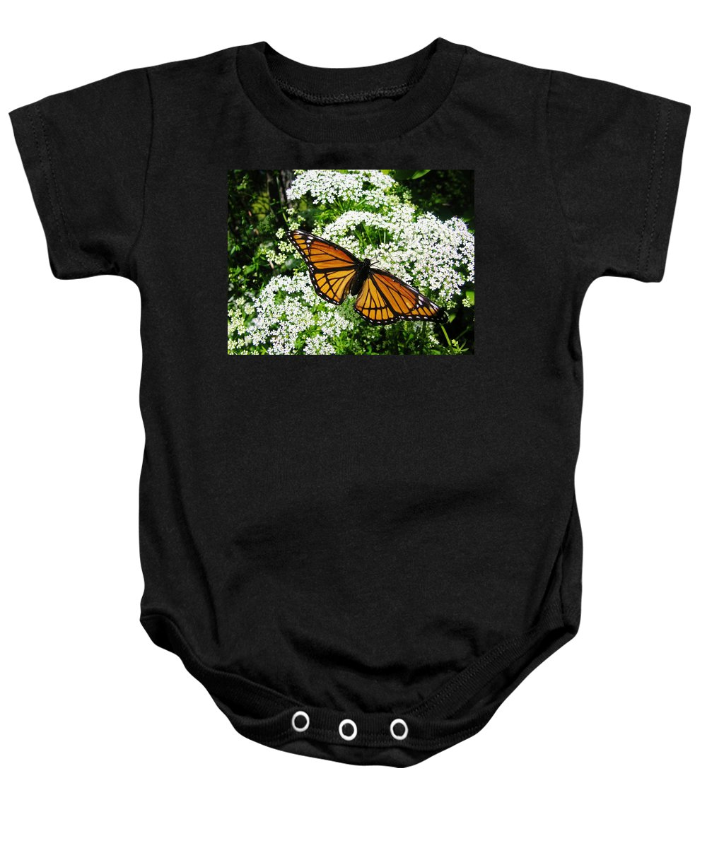 Butterfly Baby Onesie featuring the photograph Natures Beauty by Sherman Perry