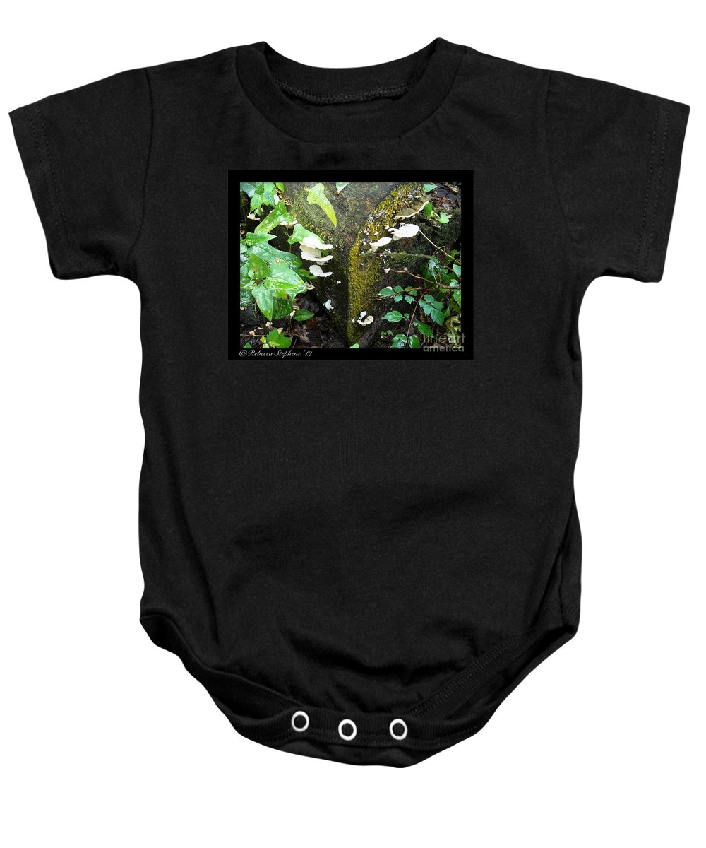 Wood Baby Onesie featuring the photograph Natures Right Angle Degrees by Rebecca Stephens