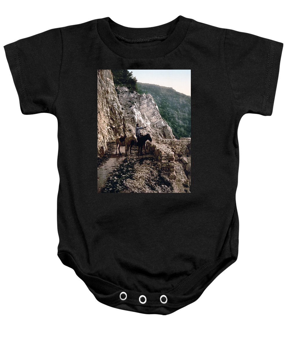 Russia Baby Onesie featuring the photograph Near The Bagatski Bridge - Caucasus - Russia by International Images