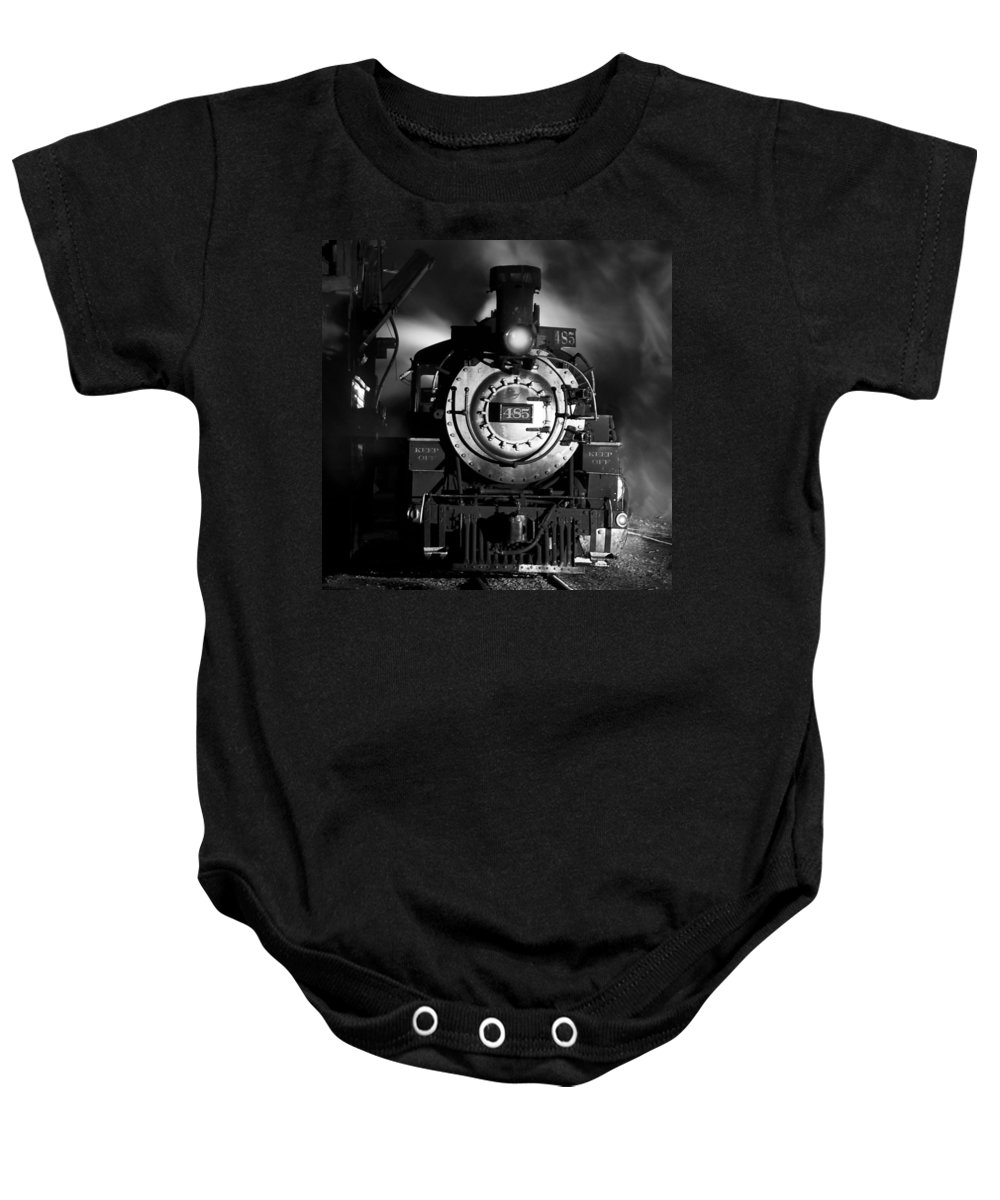 Steam Train Photographs Baby Onesie featuring the photograph Need More Coal by Ken Smith