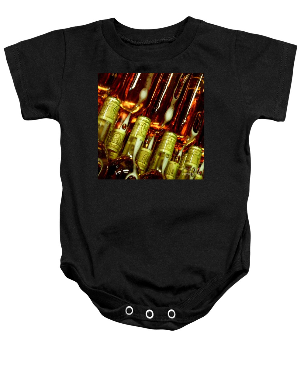 Bottles Baby Onesie featuring the photograph New Wine by Lainie Wrightson