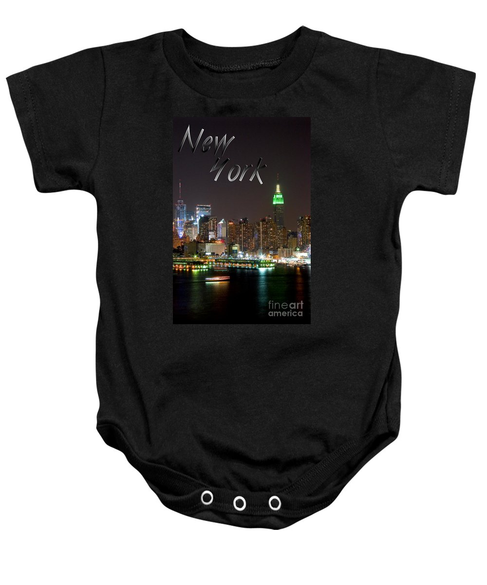 New York Baby Onesie featuring the photograph New York by Syed Aqueel