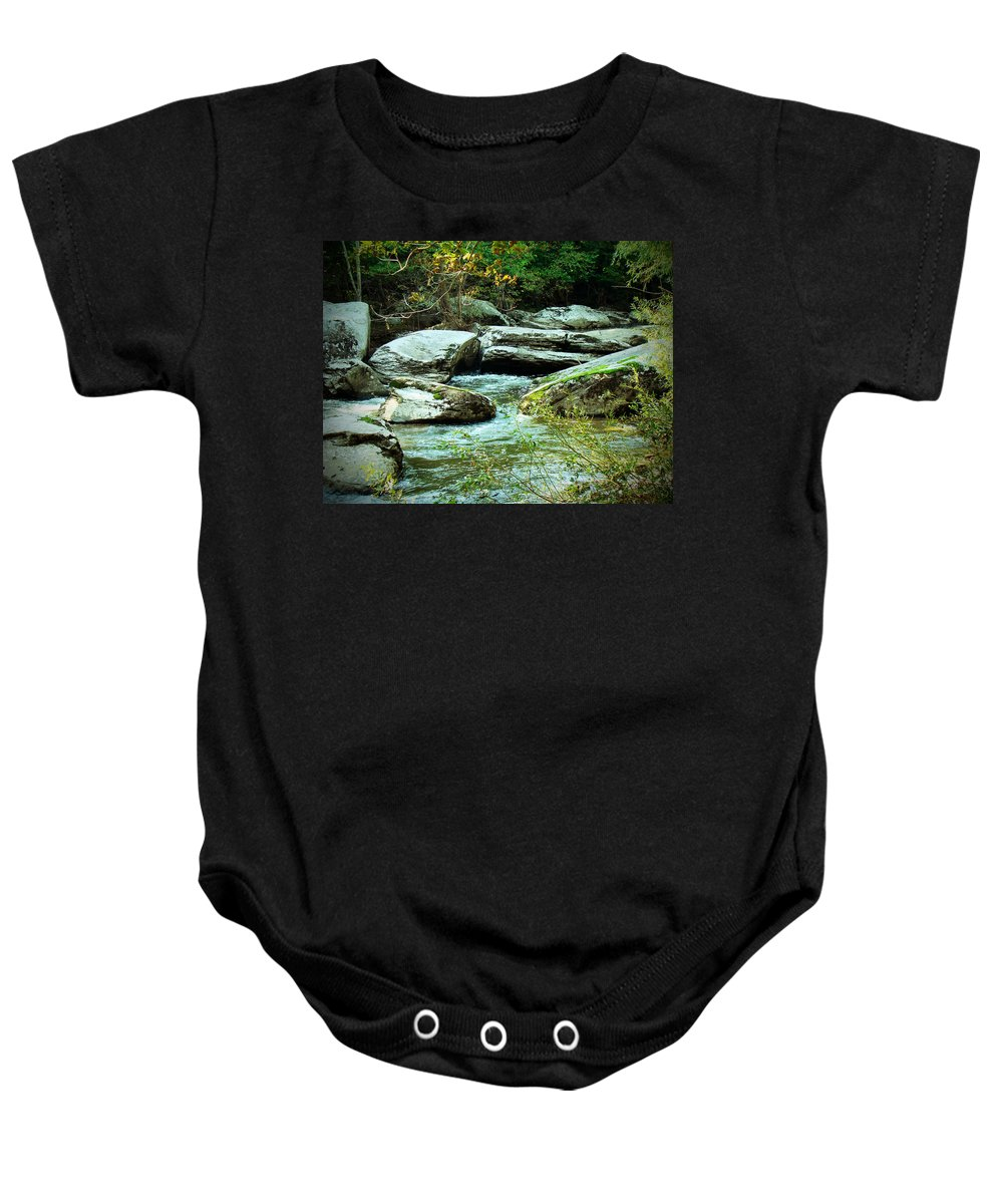 Creek Baby Onesie featuring the photograph Night Encroaches by Mother Nature