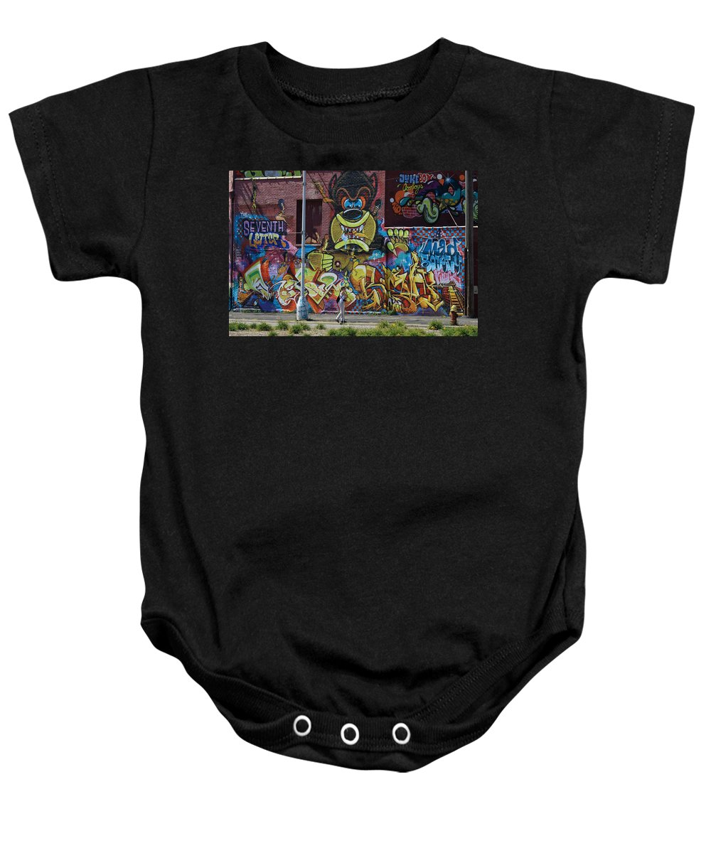 Landscape Baby Onesie featuring the photograph No Standing by Dennis Pintoski