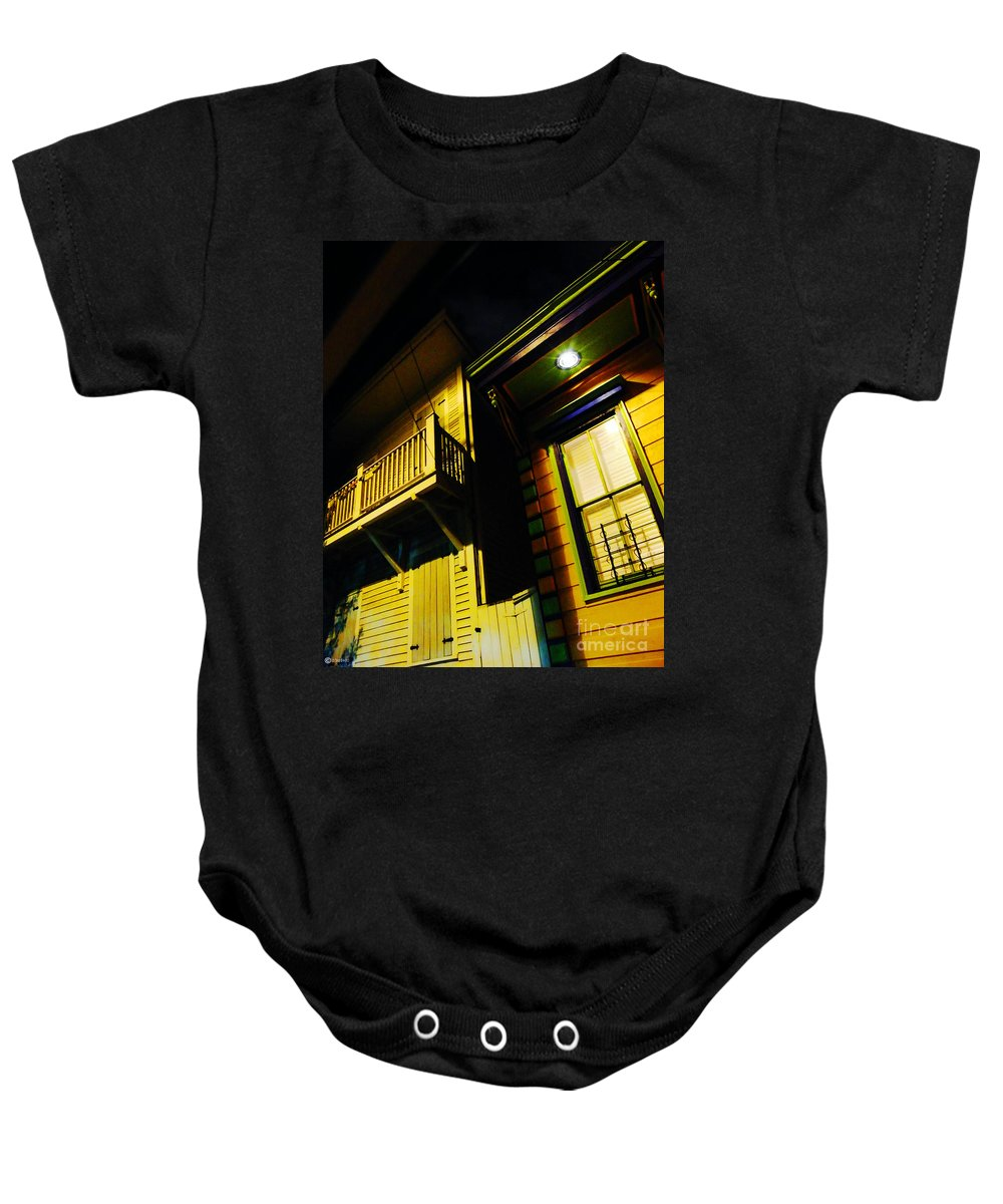 New Orleans Baby Onesie featuring the photograph Nocturnal Nola by Lizi Beard-Ward
