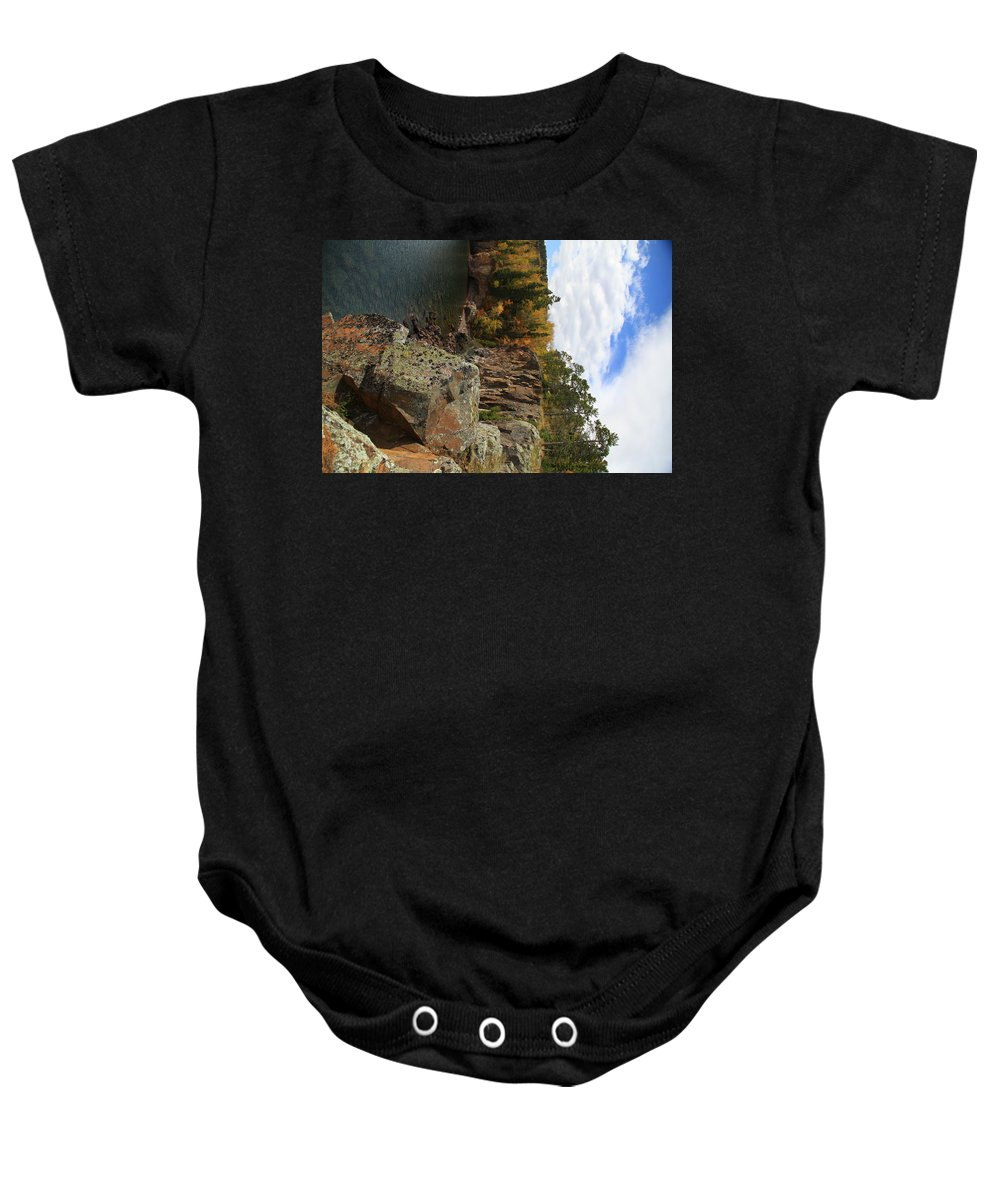 Baby Onesie featuring the photograph North Shore by Joi Electa