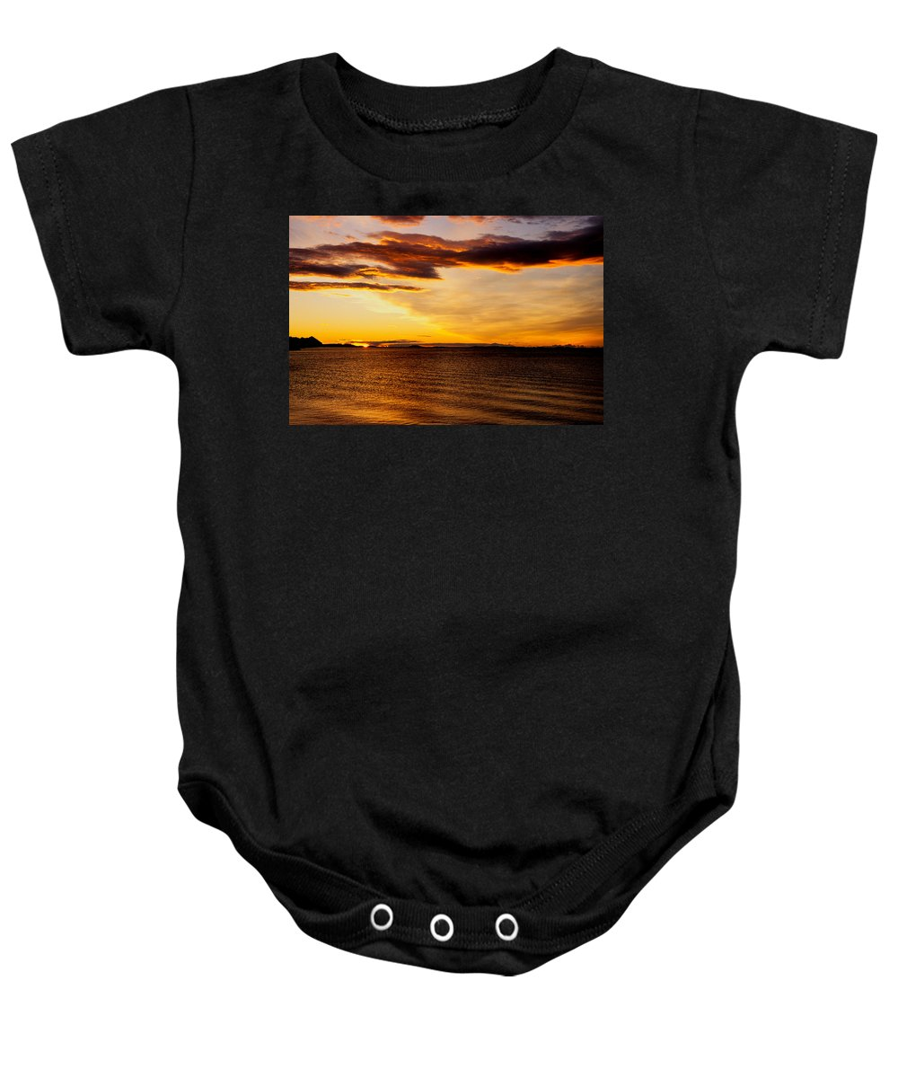 Bodo Baby Onesie featuring the photograph Northern Sunset by Hakon Soreide