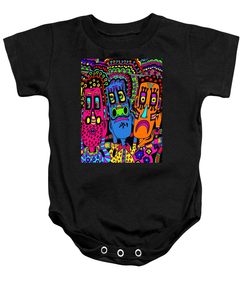 Life Baby Onesie featuring the painting Not That Again by Karen Elzinga