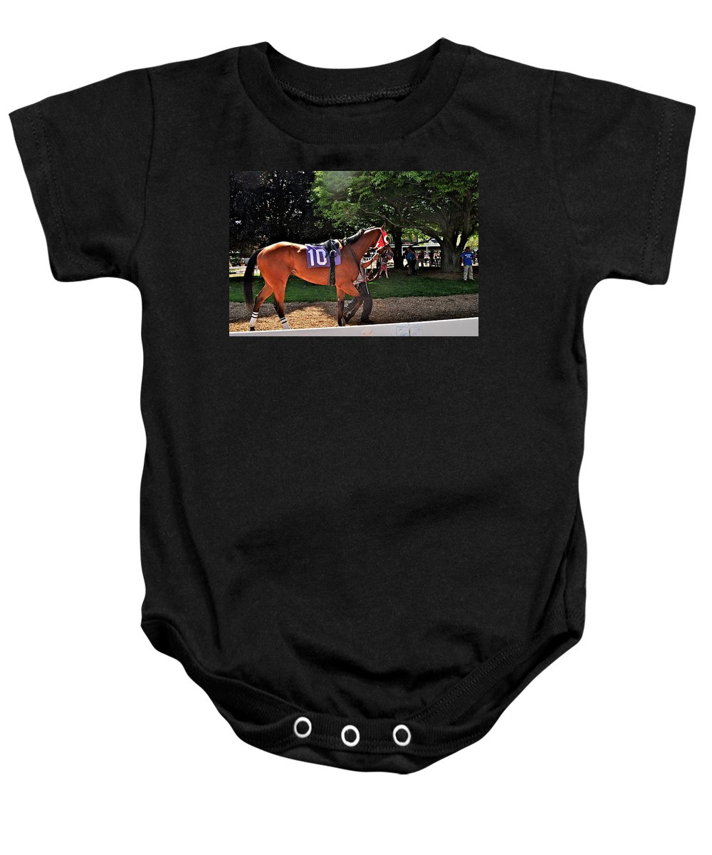 Monmouth Park Baby Onesie featuring the photograph Number 10 by Catherine Conroy
