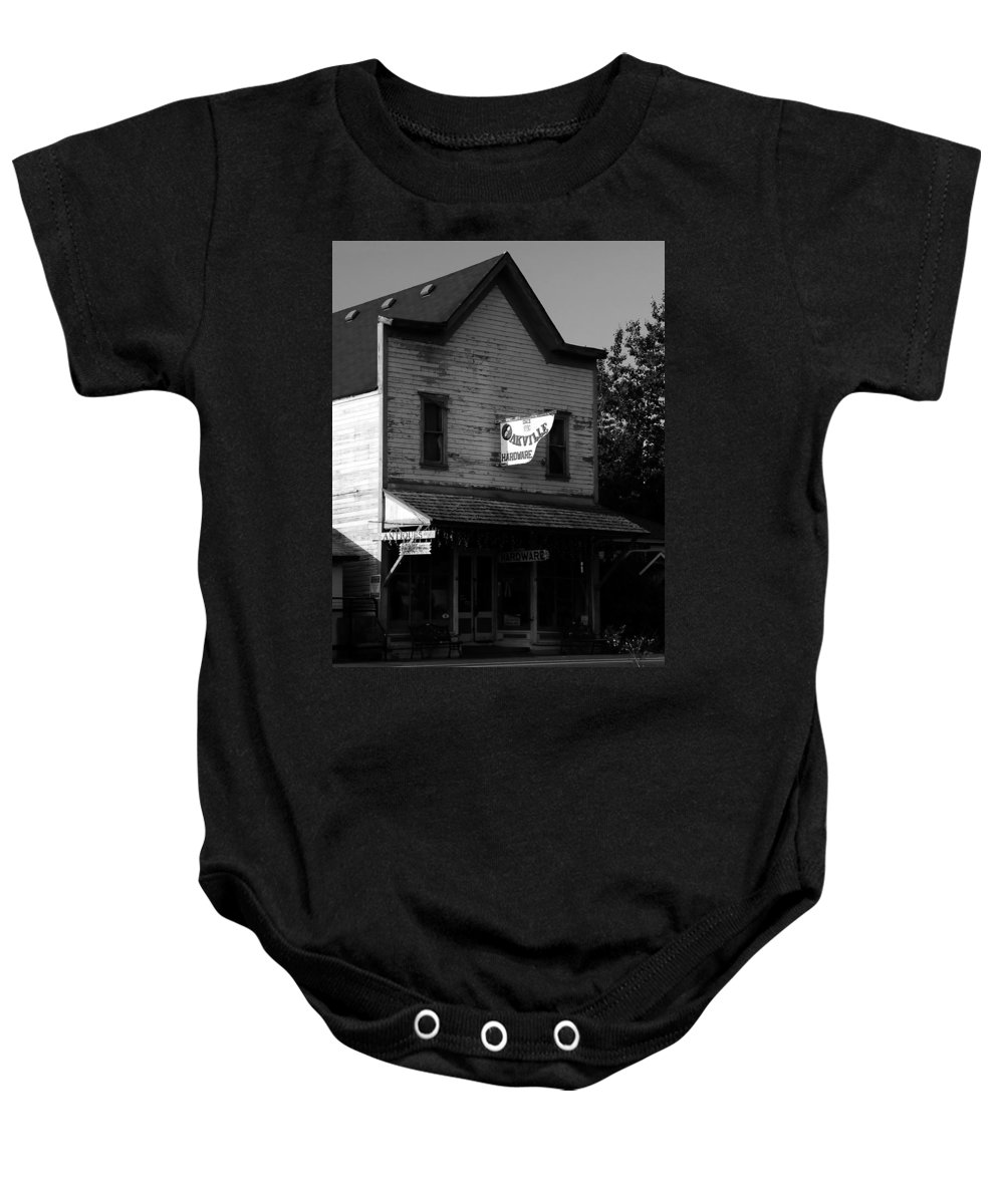 Fine Art Photography Baby Onesie featuring the photograph Oakville Hardware 1890 by David Lee Thompson