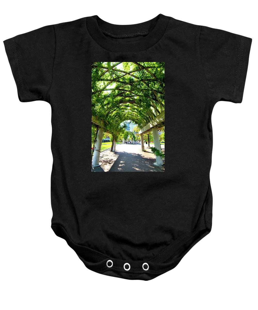 Art Baby Onesie featuring the photograph Oasis by Greg Fortier