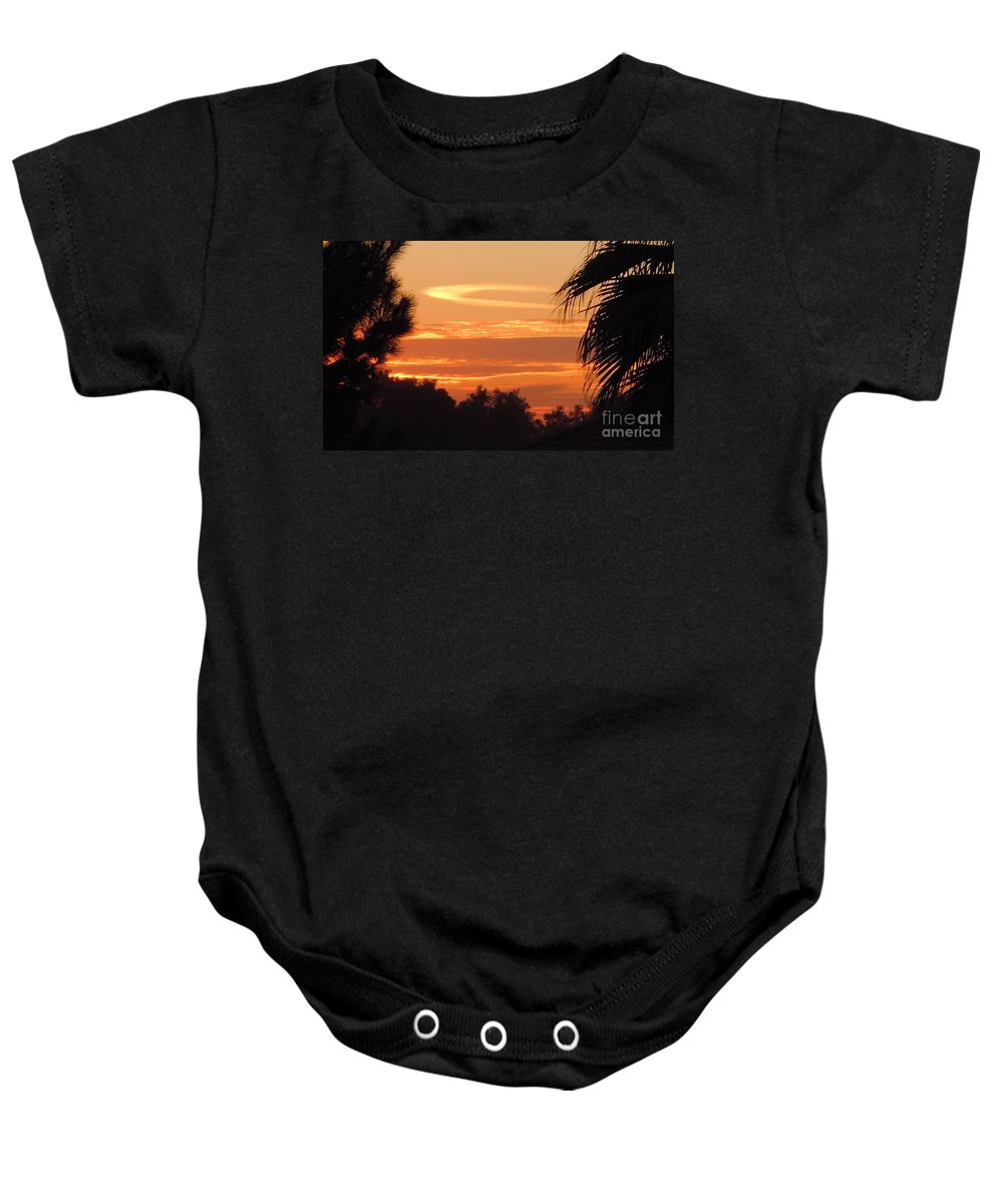 Ocean Baby Onesie featuring the photograph Ocean Of Heavenly Fire by Customikes Fun Photography and Film Aka K Mikael Wallin