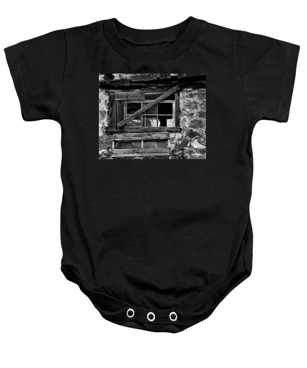 Barn Baby Onesie featuring the photograph Old Barn Window by Perry Webster