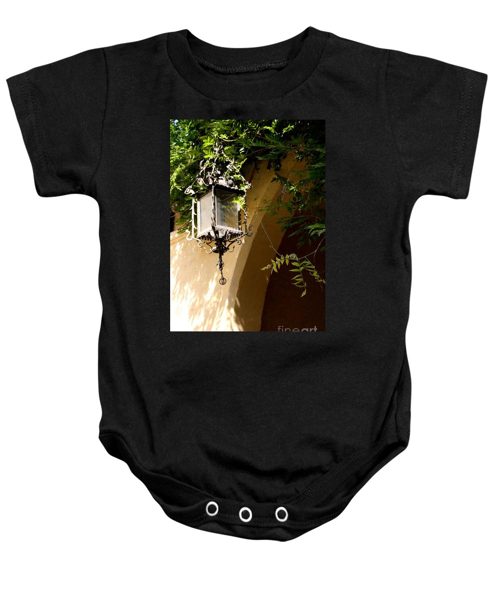 Lantern Baby Onesie featuring the photograph Old Lantern by Christiane Schulze Art And Photography