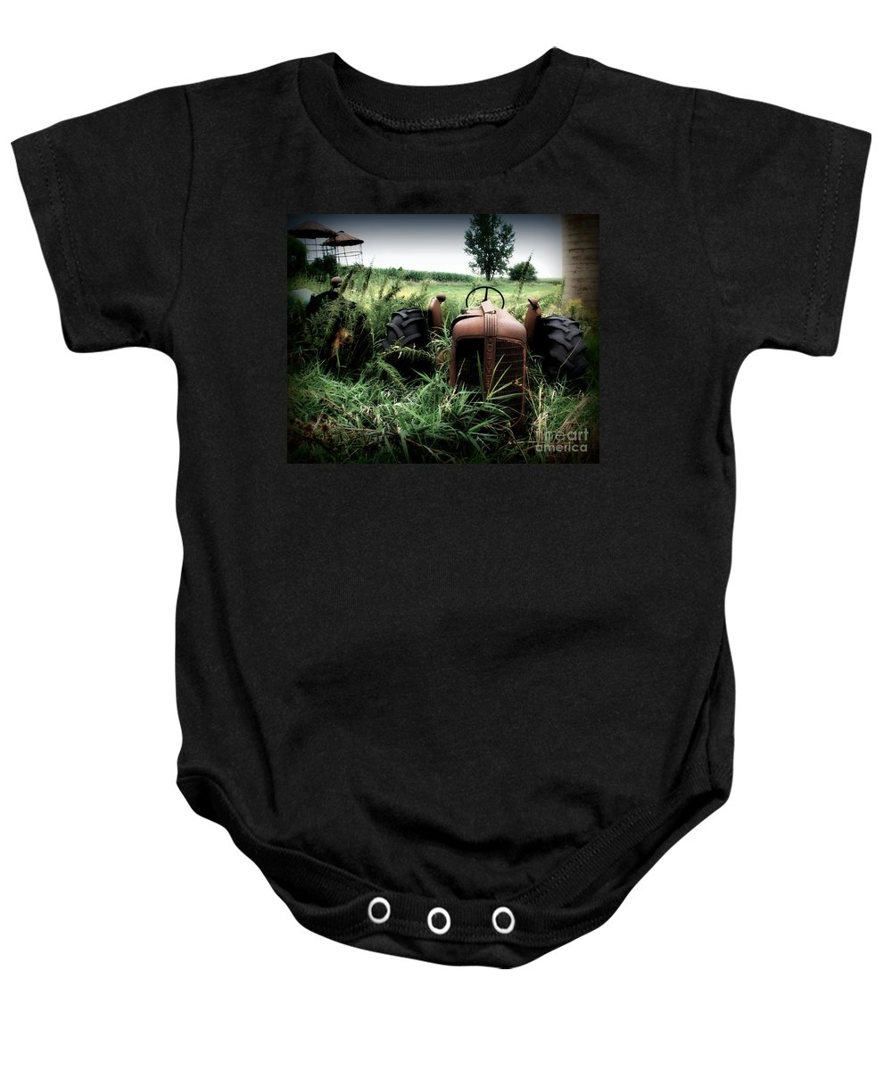 Tractor Baby Onesie featuring the photograph Old Oliver 3 by Perry Webster