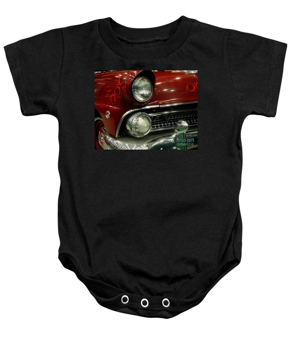 Fire Baby Onesie featuring the photograph Old School Fire by Kevin Fortier