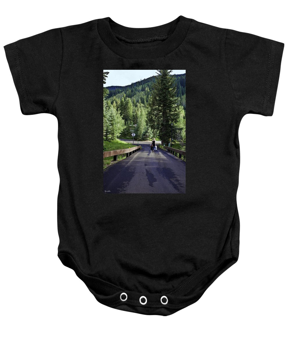 Vail Baby Onesie featuring the photograph On A Country Road - Vail by Madeline Ellis