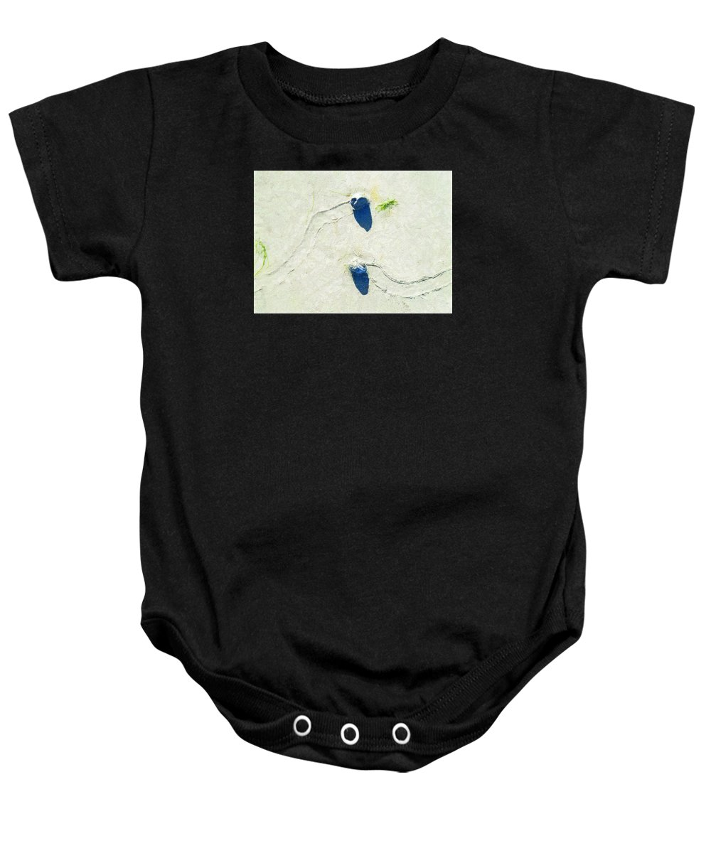 Low Tide Baby Onesie featuring the photograph One Day Our Paths Will Cross by Steve Taylor