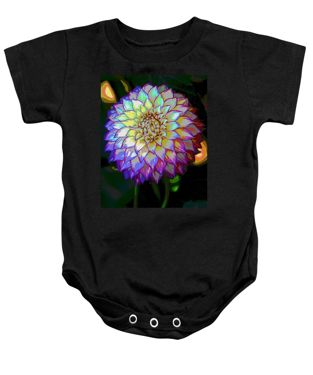 Flowers Baby Onesie featuring the photograph Open For Pleasure Flowart by Ben Upham III