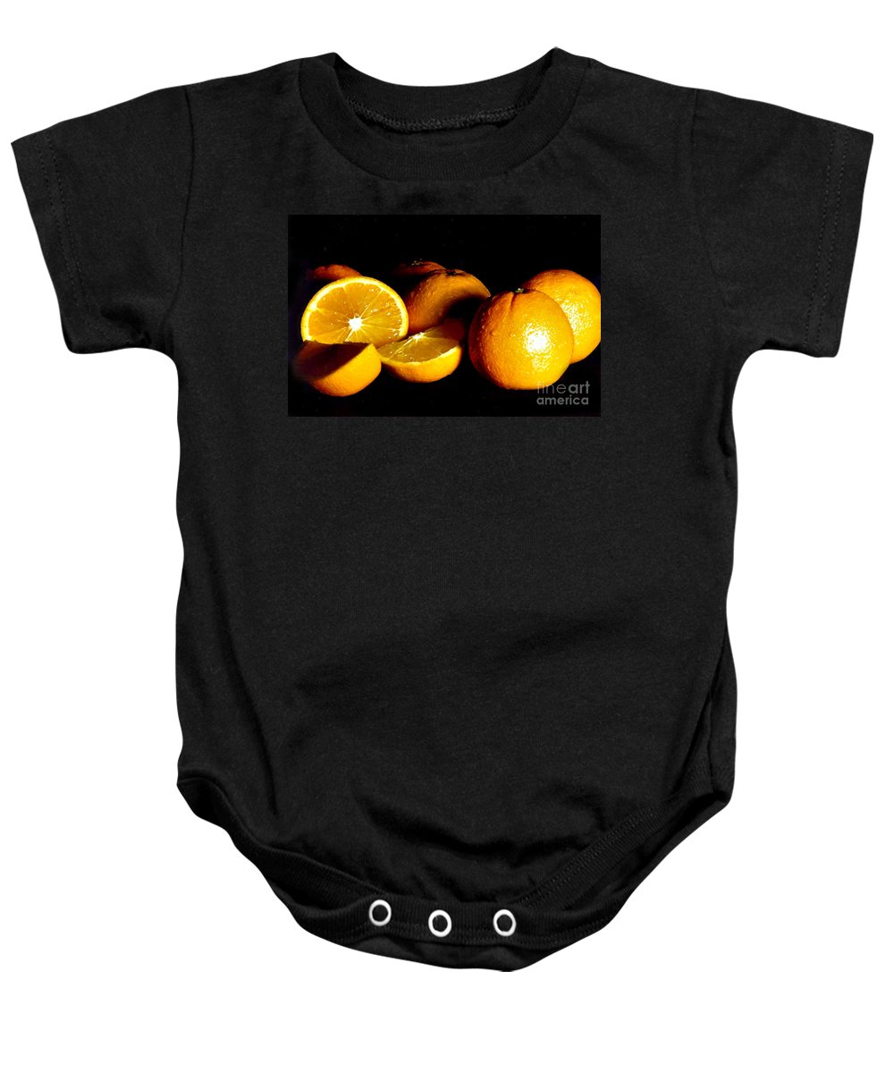 Oranges Baby Onesie featuring the photograph Oranges by Randy Harris