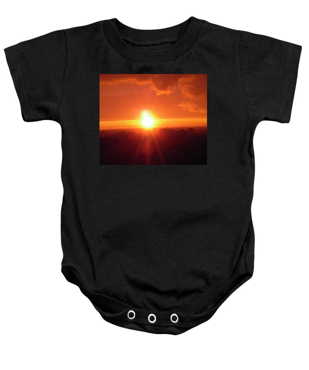 Sunset Baby Onesie featuring the photograph Ottawa Sunset by Stephanie Moore