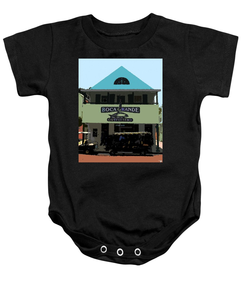 Art Baby Onesie featuring the painting Outfitters Boca Grande Style by David Lee Thompson