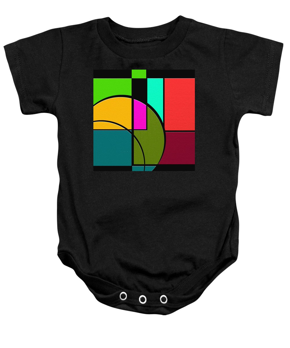 Abstract Art Baby Onesie featuring the painting Outs by Ely Arsha