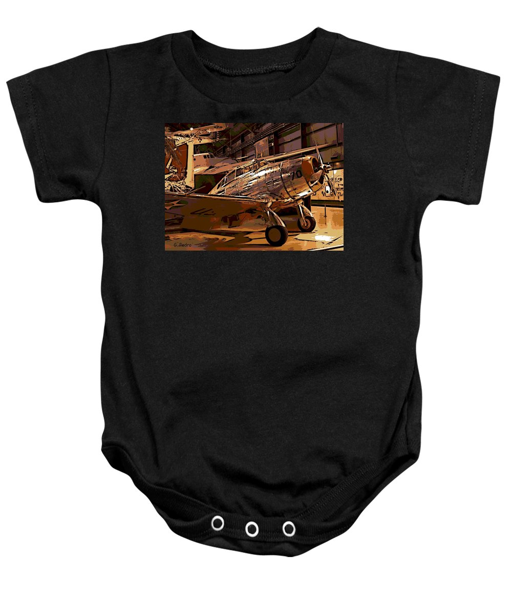 Seversky Baby Onesie featuring the photograph P-35 by George Pedro