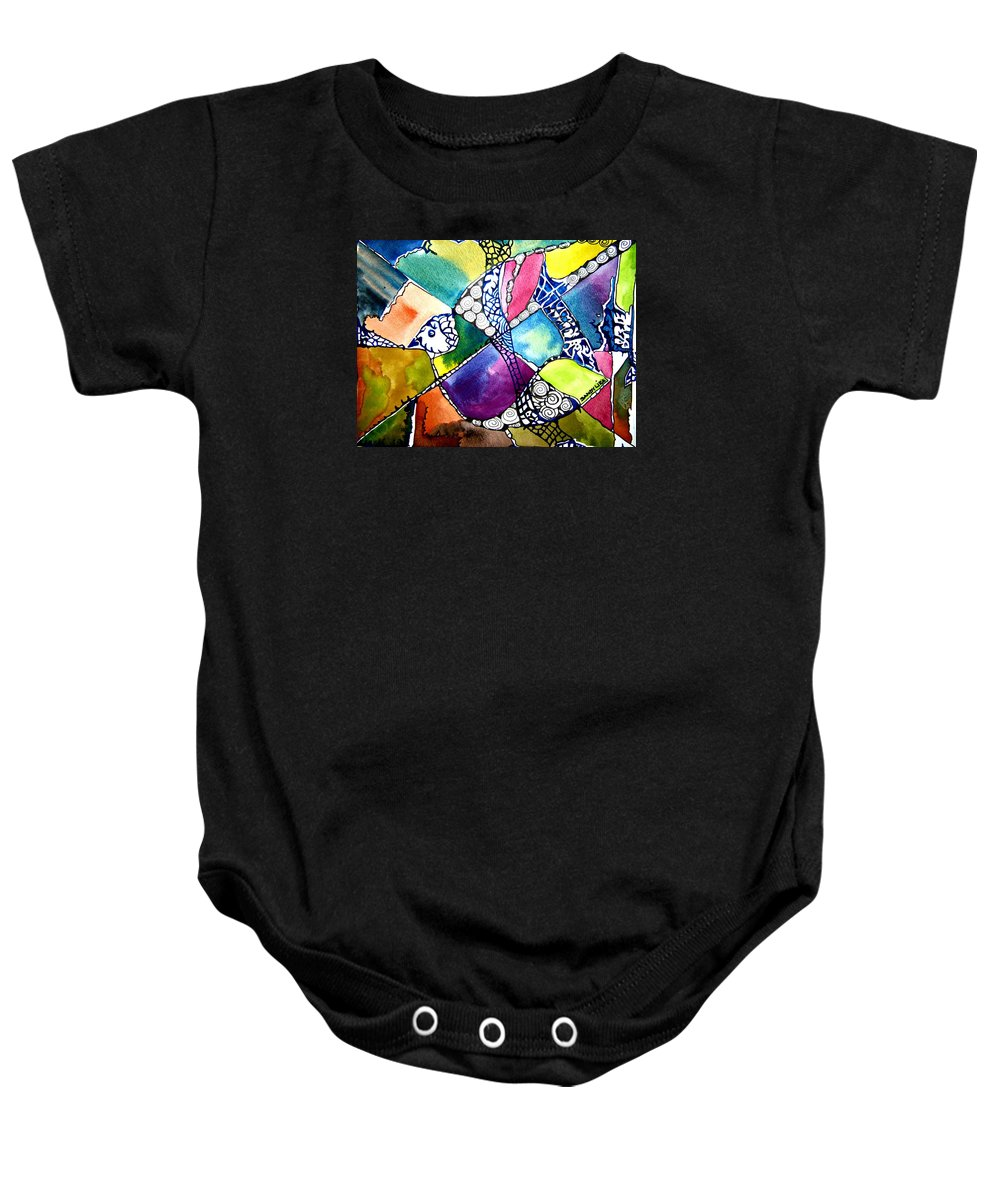 Watercolor Dove Baby Onesie featuring the painting Paloma Viajera by Sandra Lira