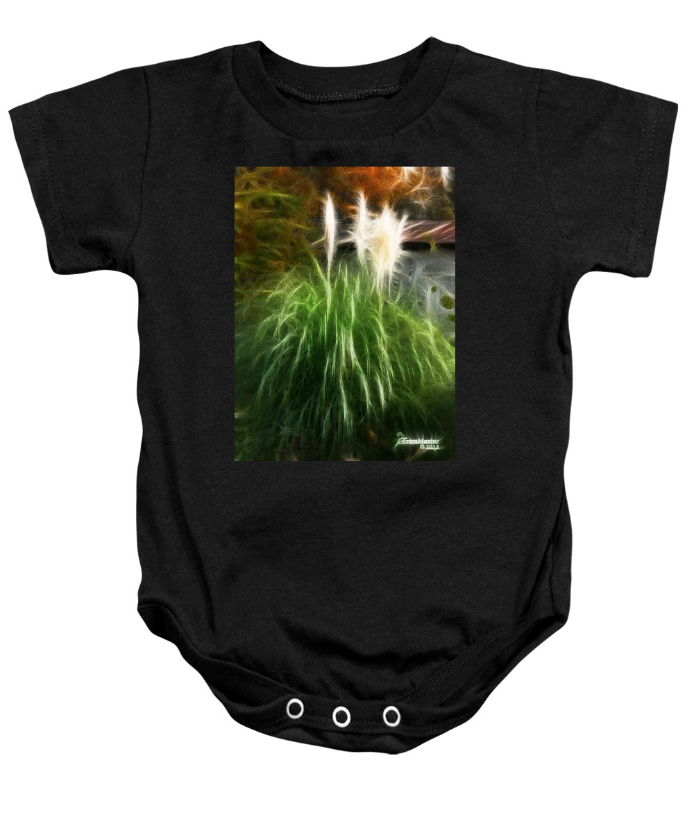 Pampas Grass Baby Onesie featuring the photograph Pampas Grass by Ericamaxine Price