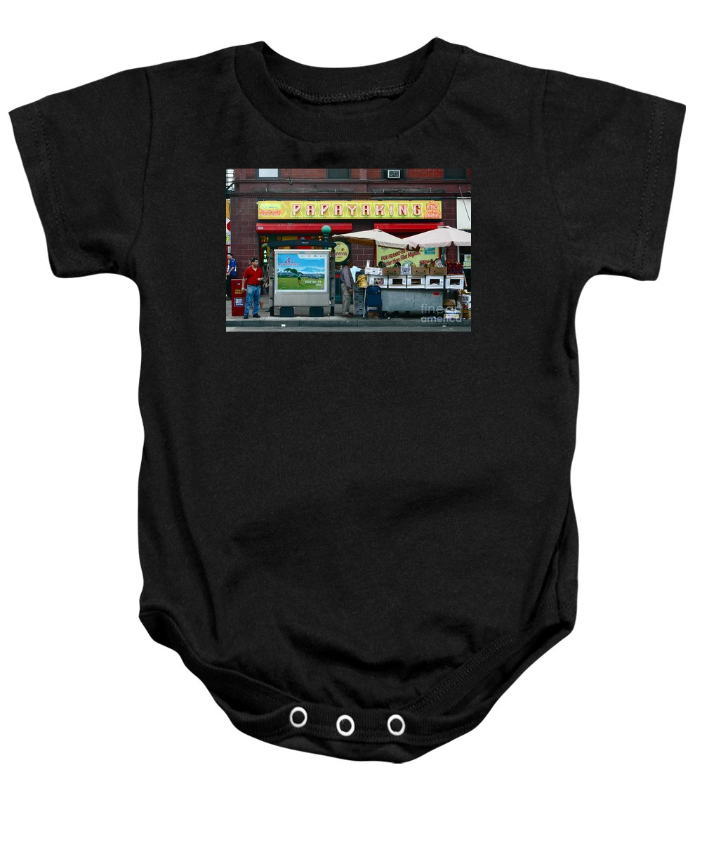 Nyc Baby Onesie featuring the photograph Papaya King by Mark Gilman