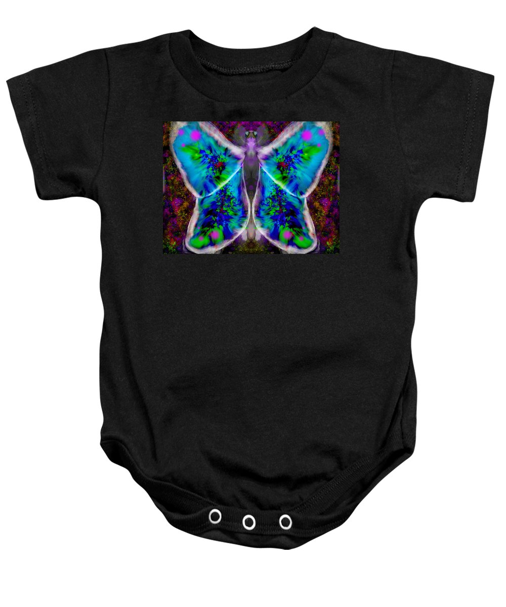 Butterfly Baby Onesie featuring the digital art Papillon by Mathieu Lalonde