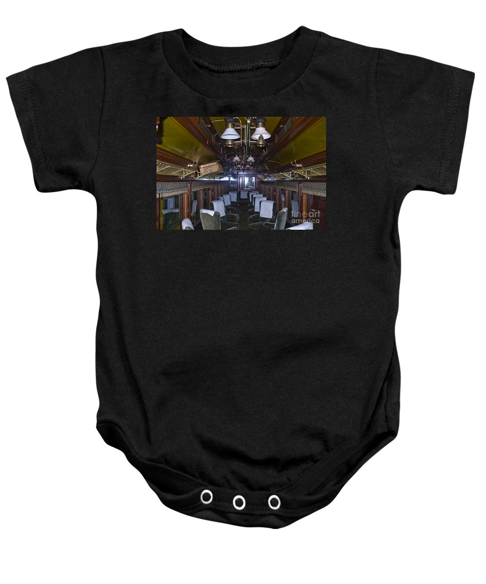 Sandy River & Rangeley Lakes Railroad Baby Onesie featuring the photograph Parlor Car by Tim Mulina