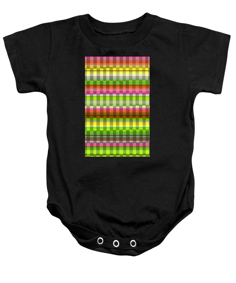 Party Stripe (digital) By Louisa Knight (contemporary Artist) Baby Onesie featuring the photograph Party Stripe by Louisa Knight
